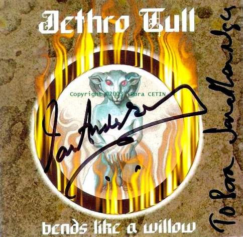 Sign's of  IAN & JON  on Bends Like A Willow  Single