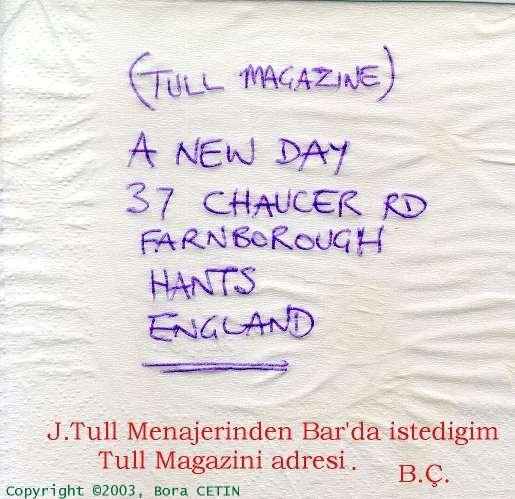 Magazine Address